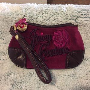 Juice Couture, Pink Velour Wristlet